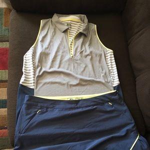 Golf skort and shirt
